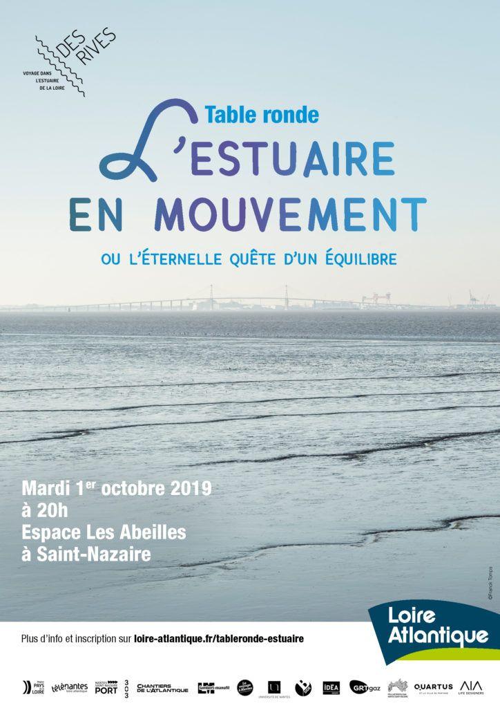 affiche table ronde n°2 : l'estuaire en mouvement