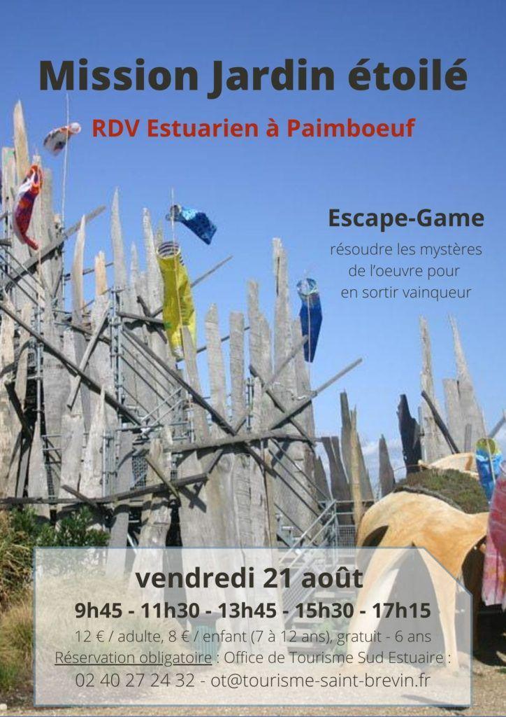 Escape Game : Mission Jardin étoilé vendredi 21 août 2020