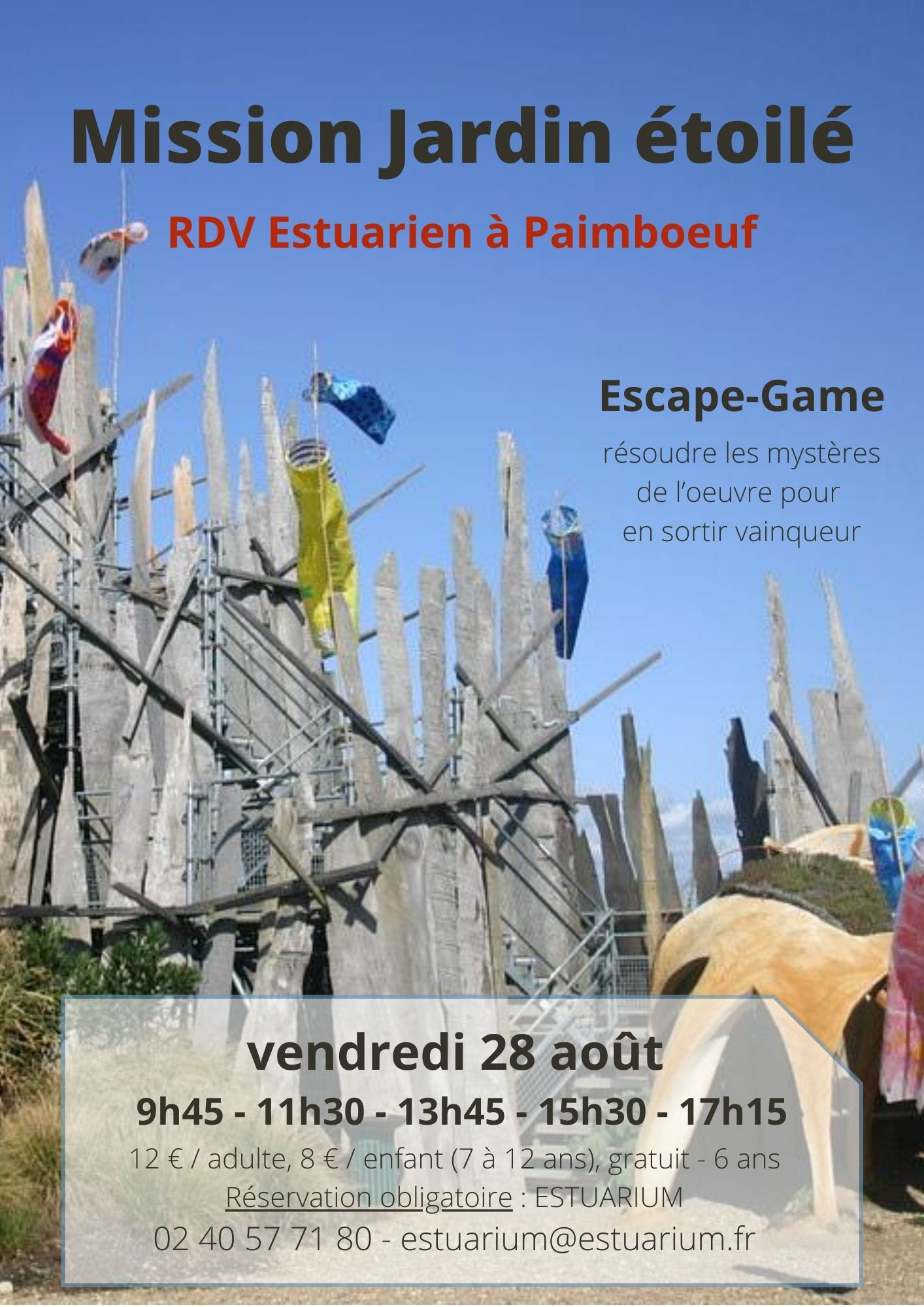 Escape Game : Mission Jardin étoilé Vendredi 28 août 2020