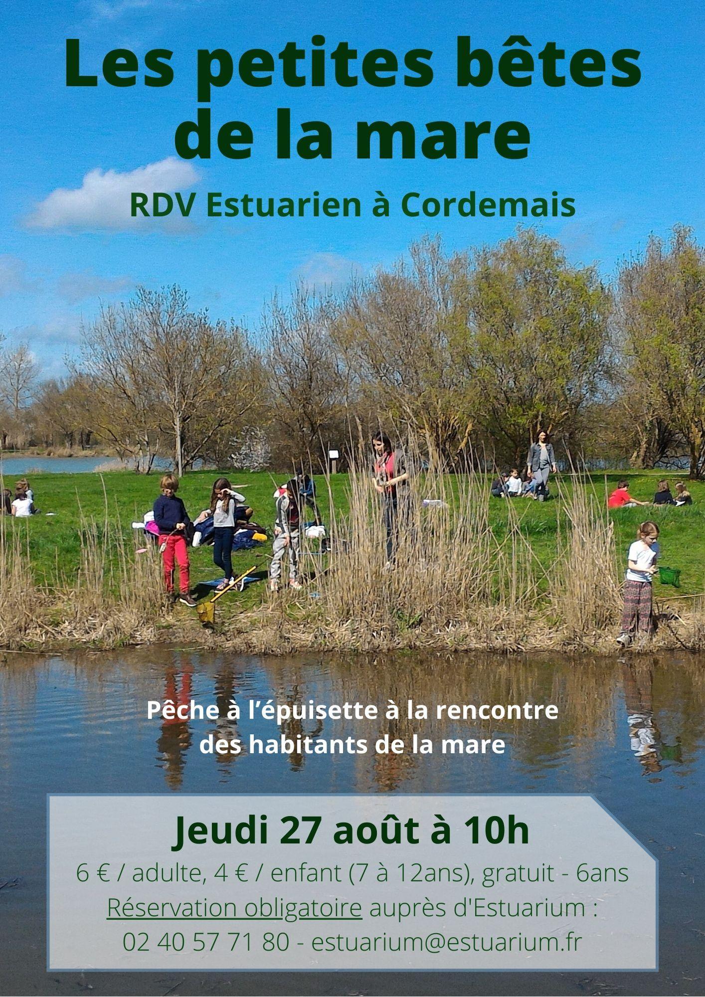 RDV Estuarien août 2020 - Mare - CORDEMAIS